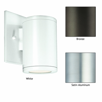CSL SS1020B Silo Single Contemporary Outdoor Wall Light with Low Voltage Option