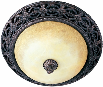 Maxim 20280VAOI Portofino 3 Light Traditional Flushmount Ceiling Fixture