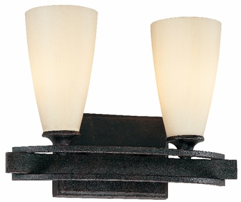Troy F1682-FR Palisade 2 Light Wrought Iron Vanity / Wall Sconce