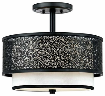 Quoizel UT1715K Utopia Contemporary Semi-Flush Ceiling Light