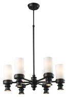 Landmark 66257-6-6 Newfield 6 Lamp Oiled Bronze 24 Inch Diameter Hanging Chandelier