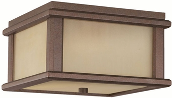 Feiss OL3413-CB Mission Lodge 2-light 5.5 inch Outdoor Flush mount Light in Corinthian Bronze