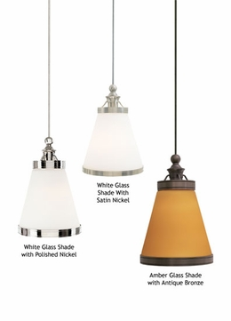 Tech 600MBEN Benton White Glass Mini-Pendant Lighting Fixture