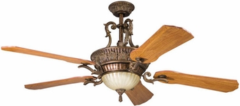 Kichler 300008-BKZ Kimberley Berkshire Bronze Rustic Lighted Ceiling Fan