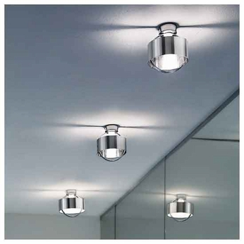 Zaneen D82097 Ring Inox Contemporary Style Semi-Flush Ceiling Light