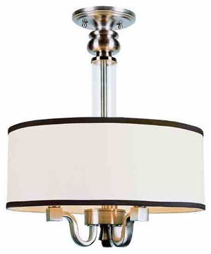 Trans Globe 7976 Modern Meets Traditional Semi-Flush Ceiling Light