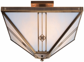 Arroyo Craftsman UIH-16 Utopian Craftsman Semi-Flush Ceiling Light - 16 inches wide