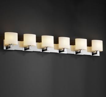 Justice Design FSN8926 Modular Fusion Contemporary Six-Light Bathroom Lighting
