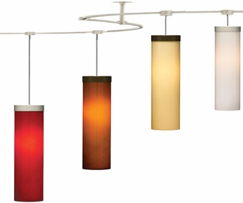 Tech TT-HUDSON T-Trak Hudson Glass Line-Voltage Pendant Light with Fluorescent Option