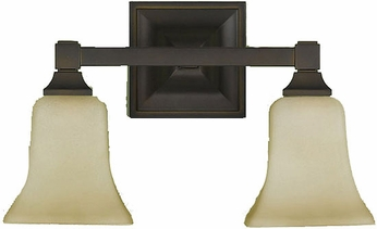 Feiss VS12402-ORB American Foursquare 1 Light Oil Rubbed Bronze Bath Light Wall Lighting Fixture