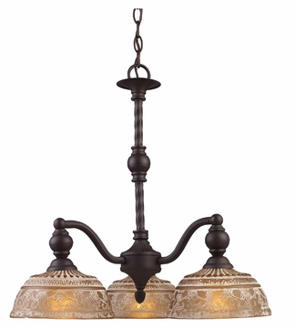 Elk 66196 3 Norwich Traditional 3 Lamp Oiled Bronze