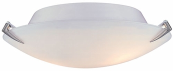 Lite Source LS5337-PS-FRO Nick 12 inches wide Polished Steel Ceiling Light