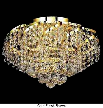 Worldwide 33017 Worldwide 6-light Crystal Semi-Flush Ceiling Light