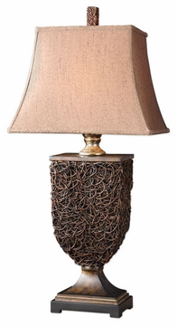 Uttermost 27930 Knotted Rattan Table Lamp