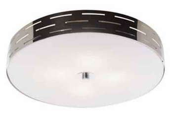 Artcraft AC6005 Seattle Medium Halogen Modern Flush-Mount Ceiling Light with Chrome