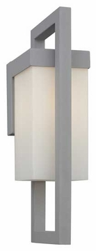 Forecast F861310 City Large Square Contemporary Outdoor Wall Sconce with Opal Glass