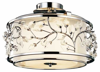Kichler 42306CH Jardine Semi-Flush Ceiling Light