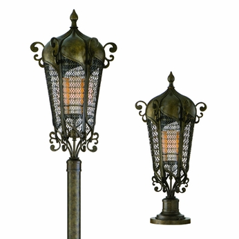 Corbett 110-83 Tangiers Outdoor Post or Pier Mount Lantern - 240 watts
