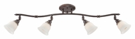 Quoizel QTR1411PN 4 Lamp Palladian Bronze Monorail Track Light Kit - 32 Inches Wide