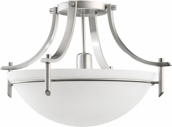 Kichler 3678AP Olympia Antique Pewter Modern Single Light Semi Flush