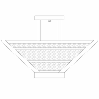 Arroyo Craftsman HOIH18 Horizon 18  Semi-flush Ceiling Light