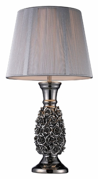 roseto alisa silver finish living room table lamp 22 inches tall. Black Bedroom Furniture Sets. Home Design Ideas