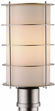 Forecast F8494-41 Hollywood Hills Contemporary Outdoor Silver Light Post