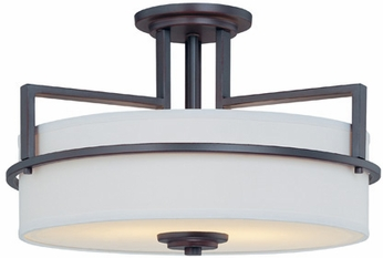 Lite Source LS5821 Montego 2-lamp Contemporary Semi-flush Mount Ceiling Light