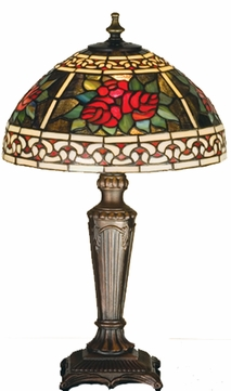 Meyda Tiffany 37790 Roses Tiffany Table Lamp