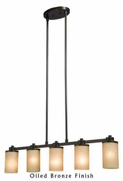 Artcraft AC1306 Parkdale 5-light Bottom Facing Contemporary Kitchen Island Light