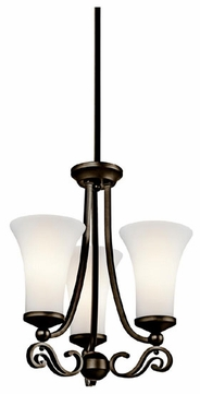 Kichler 42705OZ Wickham Traditional Tri-mount Chandelier/Semi-flush Ceiling Light/Wall Mount