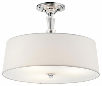 Kichler 42035CH Crystal Persuasion Semi-flush Ceiling Light