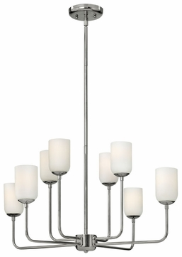 Hinkley 4218PN Harlow Nickel Finish 15.5 Inch Tall Large Chandelier