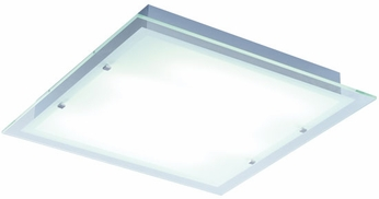 ET2 E22120-10 Contempra 4 Light Contemporary Fluorescent Flushmount Ceiling Light