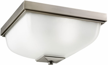 Kichler 9817AP Antique Pewter Outdoor 13 Inch Sq. Flush Mount Exterior Ceiling Light