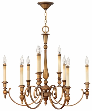 inch tall large dining room chandelier with bronze finish hin 3628br