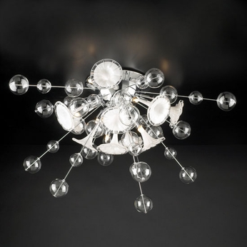 PLC 81382-PC Circus Modern 8-Light Flush-Mount Ceiling Light