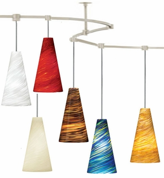 Tech TT-TAZA T-Trak Taza Glass Line-Voltage Pendant Light with Fluorescent Option