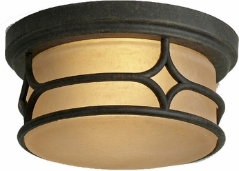 Kichler 9867AGZ Chicago Aged Bronze 2-Light Mission Flush Mount
