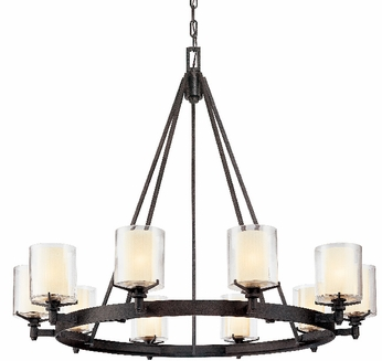 Troy F1710-FR Arcadia 10 Light French Bronze Chandelier