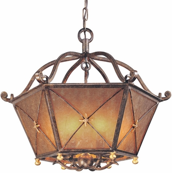 Troy F1006BLF Cheshire 24 inches x 20.5 inches Bronze and Cognac Mist Pendant Ceiling Lighting Fixture