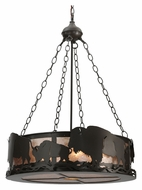 Meyda Tiffany 112938 Buffalo 24 Inch Diameter Timeless Bronze 5 Light Pendant Lamp
