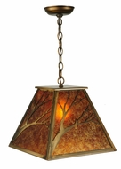 Meyda Tiffany 30941 Branches 18 Inch Wide Antique Copper Rustic Hanging Light