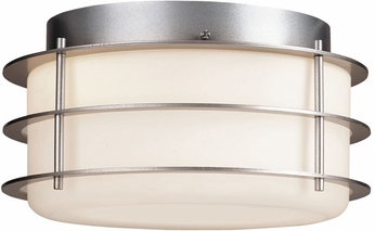 Forecast F8492-41 Hollywood Hills Contemporary Outdoor Silver Flushmount