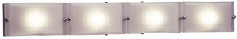 PLC 1804 Gem Contemporary 4 Light Acid Frost Halogen Bathroom Light