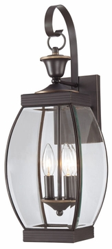Quoizel OAS8408Z Oasis Medium 2-Light 7.5 Inch Wide Bronze Outdoor Lantern Wall Sconce