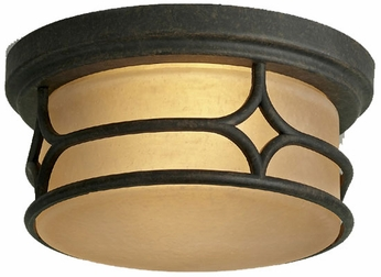 Kichler 9867AGZ Chicago 12 Inch Outdoor Flush-Mount Ceiling Light