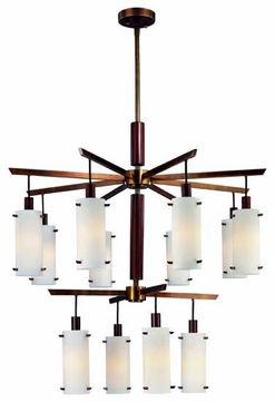 Troy F2346AGB Silver Lake 12-Light Contemporary Chandelier
