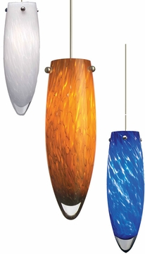 Tech Melt Low-Voltage Halogen Frit Art Glass Pendant Light