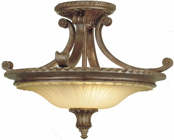 Feiss SF193-BRB Stirling Castle Traditional 2-light 19 inch Semi Flush Mount Lamp in British Bronze